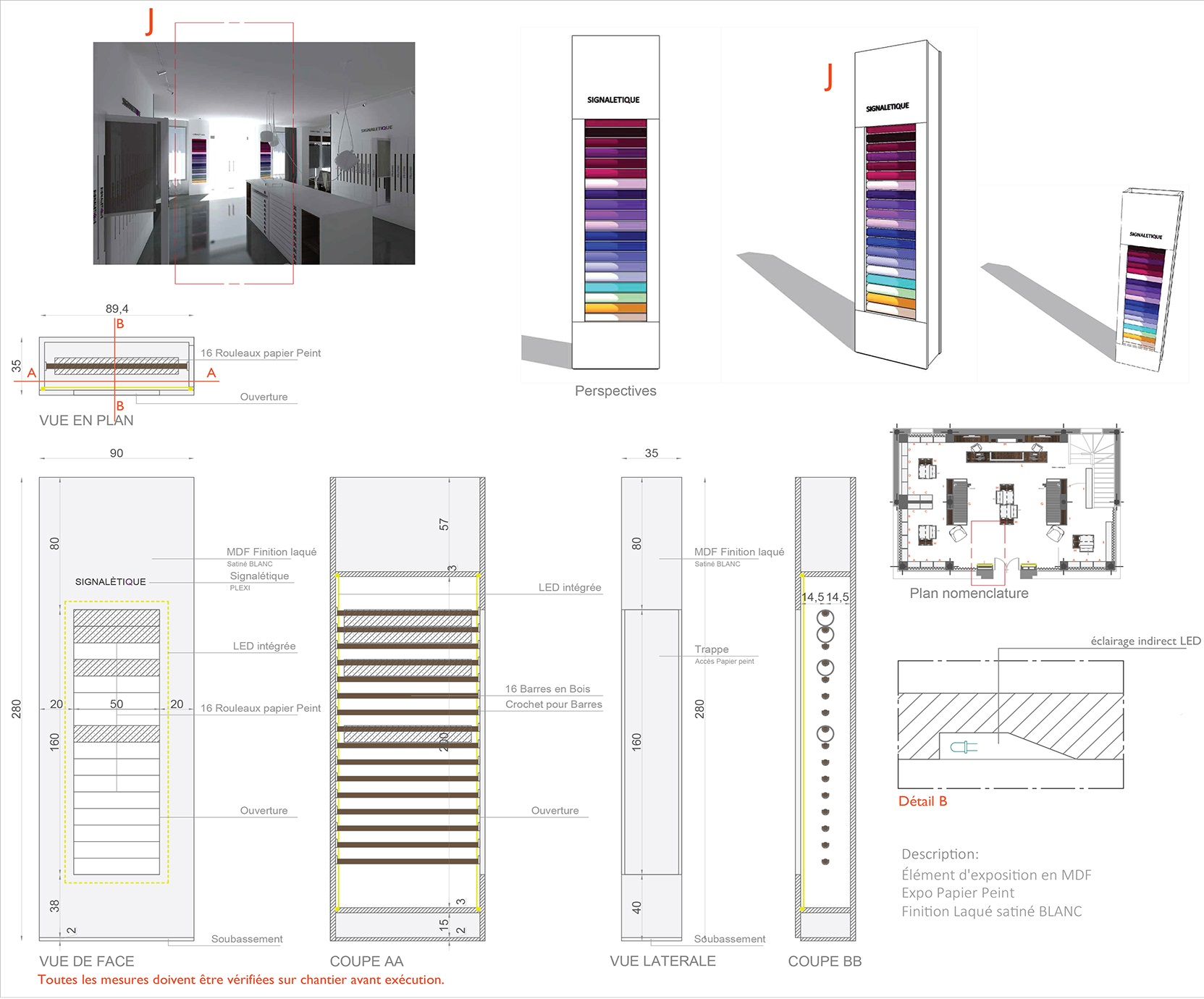 plan architecture d'intérieur tunis
